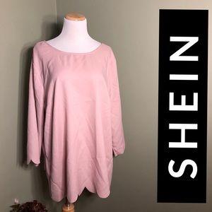 3xl Shein blouse. Fluttery button back